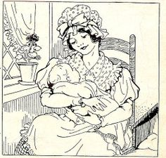 Mother and Baby Embroidery Pattern