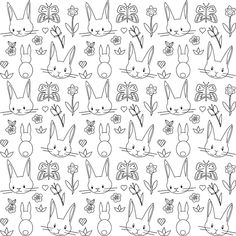 Free printable bunny coloring page - ausdruckbares Ausmalpapier - freebie | MeinLilaPark – DIY printables and downloads