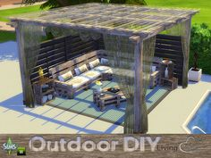 DIY Outdoor Living http://www.thesimsresource.com/downloads/details/category/sims4-sets-objects-livingroom/title/diy-outdoor-living/id/1308614/
