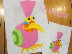 Googly Eyed Birds 04 Embroidery