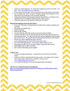 33 Ways to Prepare Your Child for Kindergarten- Page 2
