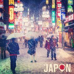 Tokyo sous la neige : les ruelles de Shibuya