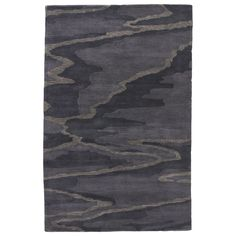 National Geographic Modern Abstract Pattern Blue/ Grey Wool Area Rug (8' x 10')