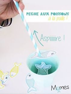 Pêche aux poissons à la paille ! Diy For Kids, Crafts For Kids, Little Games, Diy Games, Diy Toys, Toddler Activities, Kids And Parenting, Montessori, Pirates
