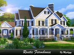 Rustic Farmhouse by MychQQQ for The Sims 4
