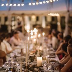 Long tables and candlelight for this Charleston wedding