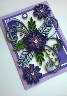 Quilling Card, Quilled Mother Day Card,Quilled Birthday Card,Mother Card, Greeting Card, Handmade Quilling Card, All occasions quilling card