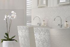 pur weißes badezimmer quarz platten