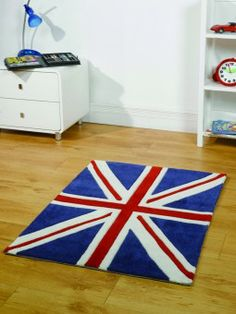 For High Quality Rugs At Great Prices The Kiddy Play Mini Union Jack Childrens Rug Red White Blue A Price And Get Free Fast Delivery