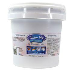 Satin Ice Vanilla Fondant White 20 lb 10003