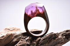 """mymodernmet: """" Exquisite Wooden Rings Reveal Miniature Landscapes Encapsulated in Resin """""""