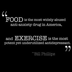 Food Anti-Anxiety vs Exercise antidepressant.