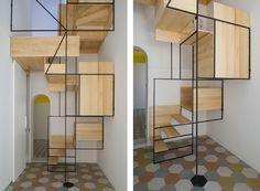 Casa G stairs by Francesco Librizzi studio Staircase Metal, Stair Railing, Staircase Design, Interior Architecture, Interior Design, Contemporary Architecture, Modern Interior, Studio, Prima Volta