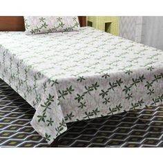 True Luxury Cotton single bed sheets with Matching Pillow Cover. Bed Sheets Online, Buy Bed, Bed Sheet Sets, Linen Bedding, Mattress, Pillow Covers, Floral Prints, Pillows, Printed