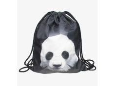 Vak na záda Gymsack s potiskem - Black Panda