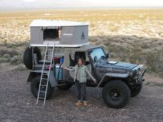 that wheel base looks longer than typical) 2000 Jeep Wrangler, Jeep Tj, Jeep Rubicon, Jeep Truck, 4x4 Trucks, Jeep Wranglers, Camping Jeep, Accessoires Jeep, Trailer Tent