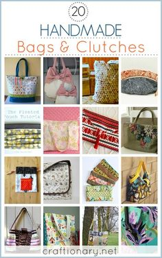 Handmade Bags and Purses (best tutorial) - Craftionary