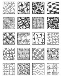 ZENTANGLE PATTERNS grid 8 | Flickr - Photo Sharing!