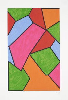 Mary Heilmann, 'Autumn Wave' Edition of 175 15 colour screen print on Rives BFK 62 x 43 cm (24.5 x 17 in)