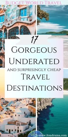 Are you looking for budget world travel destinations that are quite undiscovered and Underrated travel destinations that you and your budget will find unique and beautiful. cheap 17 Unique Travel Destinations That You Need To Know About -It's a Drama Cheap Places To Visit, Cheap Places To Travel, Top Travel Destinations, Cheap Travel, Budget Travel, Travel Europe, Nightlife Travel, Mexico Travel, Greece Travel