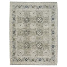 Capel Rugs Burmesse-Tile Silver Hand Knotted Wool Rug #laylagrayce