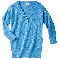 Mossimo Supply Co. Juniors 3/4 Sleeve Marl V Neck Sweater - Assorted Colors