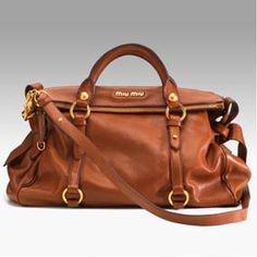 Miu Miu oversized cognac bag!