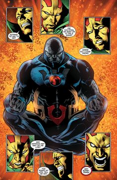 New Gods Darkseid and Mister Miracle Comic Villains, Dc Comics Characters, Darkseid Dc, Teen Titans Starfire, Univers Dc, Greatest Villains, Arte Dc Comics, New Gods, Superman