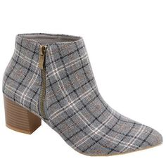 Jada Ladies Printed Check Ankle Bootie   Buy Online in South Africa   takealot.com Jada, Ankle Booties, South Africa, Heeled Mules, Booty, Printed, Heels, Check, Stuff To Buy