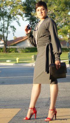 grey knit dress! Church Dresses, Dresses For Work, Black Hair Cuts, Shoe Room, Grey Knit Dress, Sew Simple, Short Black Hairstyles, Love Clothing, Black Girls Rock