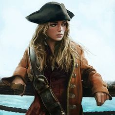 Dungeons And Dragons Characters, Dnd Characters, Fantasy Characters, Female Characters, Pirate Art, Pirate Woman, Pirate Life, Pirate Theme, Character Portraits