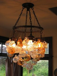 Dishfunctional Designs blog - glass cup chandelier