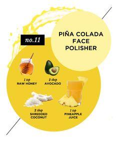 Homemade Face Mask No. 5: Piña Colada Face Polisher