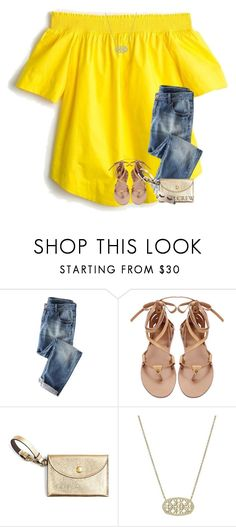 """j is for j crew!"" by preppy-southerngirl ❤ liked on Polyvore featuring J.Crew, Kendra Scott and Casetify"
