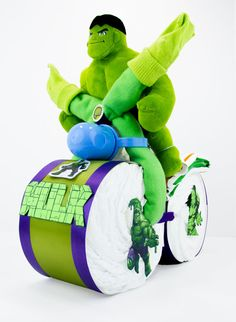 Marvel Hulk Superhero Comic Book Green & Purple by EnkiConcepts