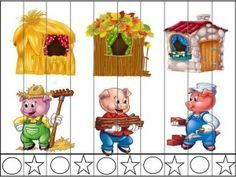 11825668_749004691892498_4024836651177439541_n Easy Crafts For Kids, Craft Activities For Kids, Fairy Tale Theme, Fairy Tales, Fairy Tale Activities, Nursery Rhymes Preschool, Preschool Education, Three Little Pigs, Disney Crafts