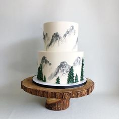 30 Aesthetically Pleasing Cakes By This Canadian Baker Darci from Canmore in Alberta, Canada, is an expert at designing and baking custom cakes for weddings and various other events. Pretty Cakes, Cute Cakes, Beautiful Cakes, Amazing Cakes, Cake Cookies, Cupcake Cakes, Cupcake Ideas, Mountain Cake, Fancy Cakes