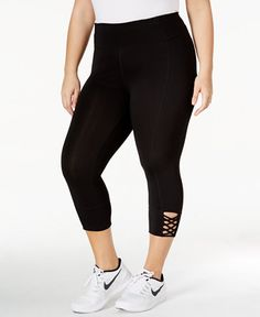 59.00$  Buy here - http://vilqt.justgood.pw/vig/item.php?t=33wf2w33938 - Plus Size Capri Lattice Leggings 59.00$