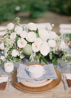 florals - reception? you can add in textures of navy-like florals.  you can make the green pop more.  is this a style you would like?