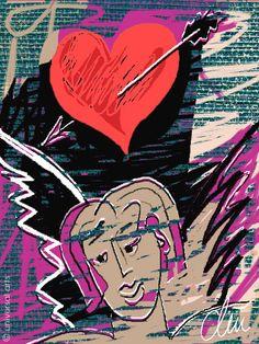"""Amor"" 2001 Original graphic Fine Art Print by Jacqueline Ditt - www.universal-arts.de"