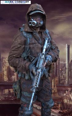 Fallout post apocalypse Airsoft costume made for LRP - LARP by Mark Cordory Creations www.markcordory.com