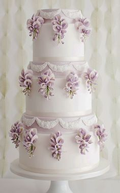 Featured Cake: Sugar Ruffles; Wedding cake idea.