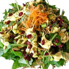 Tahini Dressing, Salad Dressing, Persian Salad, Raw Food Recipes, Healthy Recipes, Paleo Diet, Pasta Salad, Clean Eating