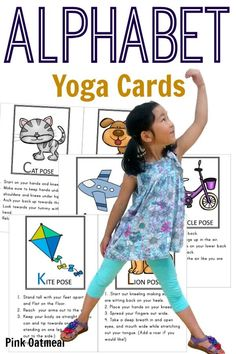 Kids yoga poses for each letter of the alphabet.  Such a fun way to do yoga and learn letters and sounds!