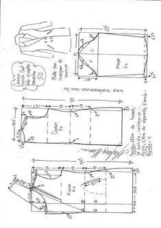 Casaco trench coat gola simples | DIY - molde, corte e costura - Marlene Mukai