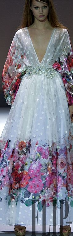 Dany Atrache S/S 2011...for some reason, I LUV this dress. It looks so soft and…