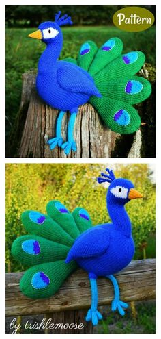 Awesome Peacock Knitting Pattern