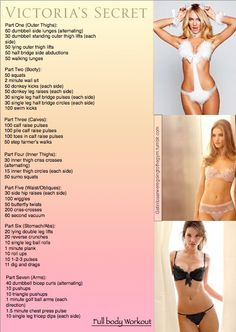 Victoria's Secret full body workout.