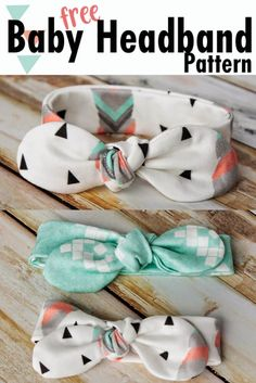 Easy DIY baby headband pattern free sewing - Knot Bow Headband Pattern and Tutorial - Coral + Co. - Make a Free Baby Headband Pattern! Sew this DIY Knot Bow Headband Pattern for baby. Sewing Patterns Free, Free Sewing, Free Pattern, Pattern Sewing, Bow Pattern, Knitting Patterns, Diy Baby Headbands, Diy Headband, Baby Headband Tutorial
