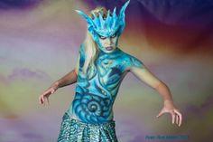 Elfia 2013 Torso paint Baby Dragon Model: Brenda, Photo: Rob Meijer, Make up & SFX Paintman Richard
